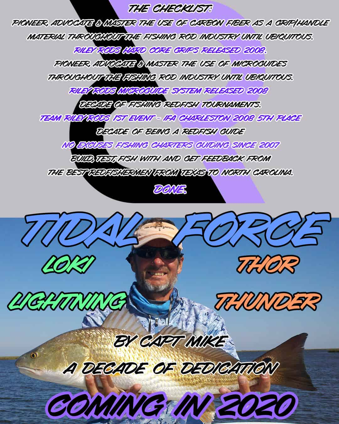 Capt Mike Fishing - NX Fishing Charters - Riley Rods - Team North Fork Composites 18